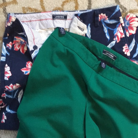 2 pairs of Lands End pants